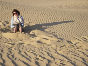 Anne in the desert