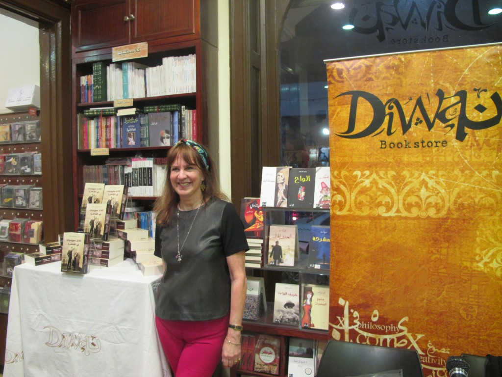 Book signing in Diwan bookstore in Zamalek, Cairo
